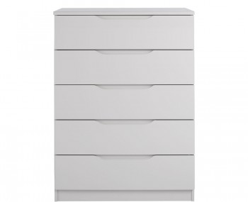 Safara 5 Drawer Cashmere High Gloss Chest *Special Offer*