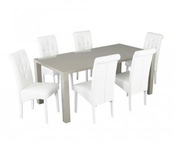 Puro Stone High Gloss Large Dining Table and Chairs