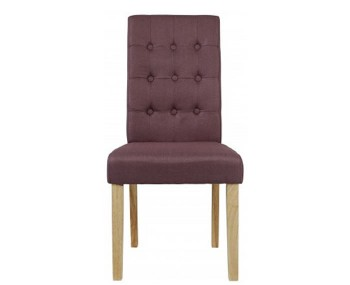 Mayfield Plum Linen Dining Chair