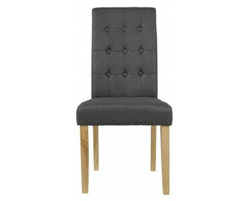 Mayfield Grey Linen Dining Chair