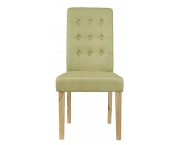 Mayfield Green Linen Dining Chair