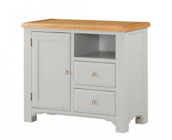 Marlstone Grey and Oak 1 Door Sideboard