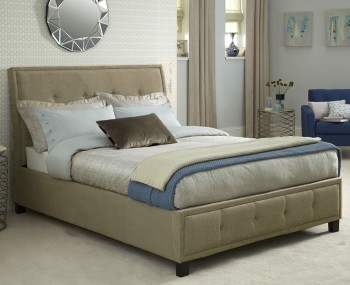 Varndell Mink Fabric Bed Frame