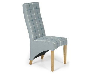 Missouri Archer Tartan and Oak Dining Chair