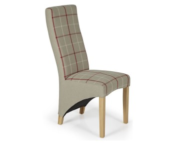Missouri Natural Tartan and Oak Dining Chair