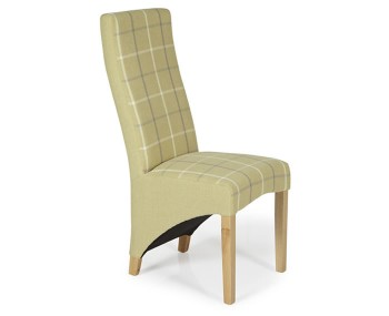 Missouri Mustard Tartan and Oak Dining Chair
