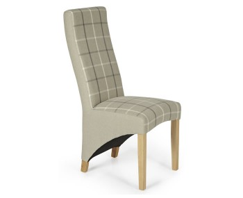 Missouri Latte Tartan and Oak Dining Chair