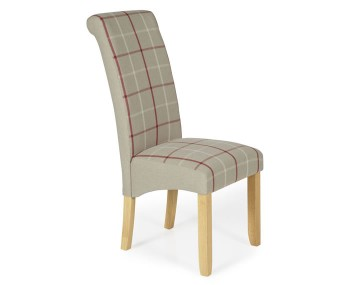 Durham Natural Tartan and Oak Dining Chair