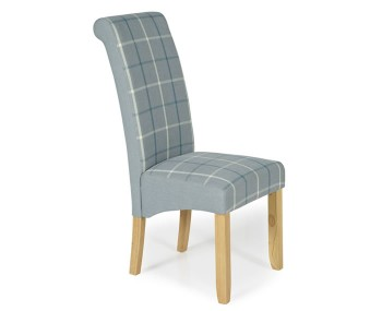 Durham Archer Tartan and Oak Dining Chair