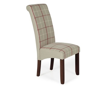 Durham Natural Tartan and Walnut Dining Chair
