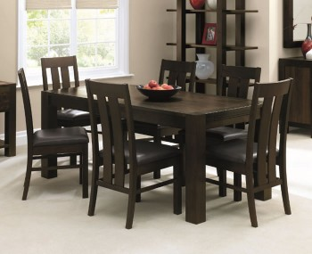 Lyon Walnut Extending Dining Table and Chairs