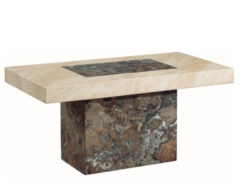 Calabria Dark Brown and Cream Marble Coffee Table