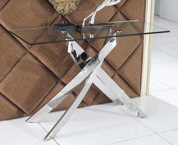 Linsdale Clear Glass Console Table