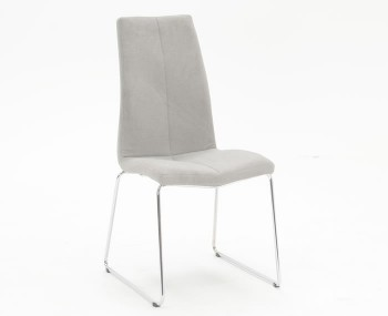 Linsdale Grey Fabric and Stainless Steel Dining Chairs