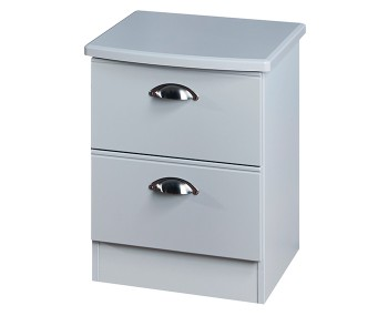 Yeadon Matt Grey 2 Drawer Bedside Chest