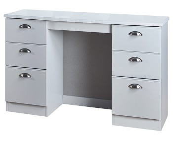 Yeadon Matt Grey Double Dressing Table