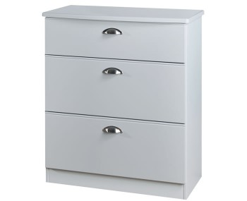 Yeadon Matt Grey 3 Drawer Deep Chest