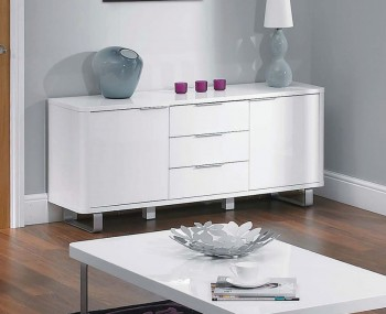Mya White High Gloss Sideboard