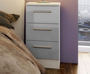 Bishop Kashmir High Gloss 3 Drawer Bedside Chest