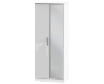 Bishop Kashmir High Gloss 2 Door Mirror Wardrobe