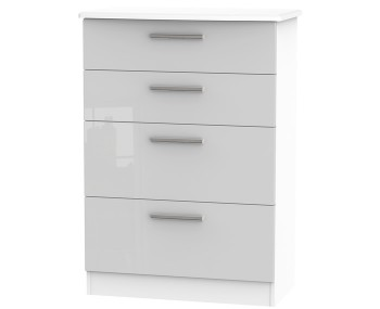 Bishop Kashmir High Gloss 4 Drawer Deep Chest