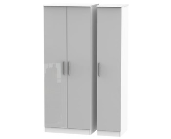 Bishop Kashmir High Gloss Triple Wardrobe