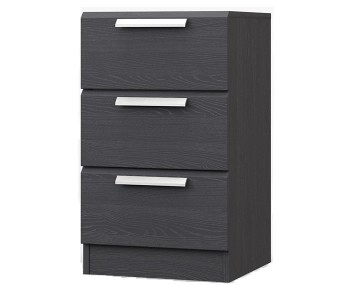 Elsham Graphite 3 Drawer Bedside Chest