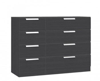 Elsham Graphite 8 Drawer Wide Chest
