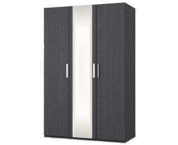 Elsham Graphite Triple Wardrobe with Mirror