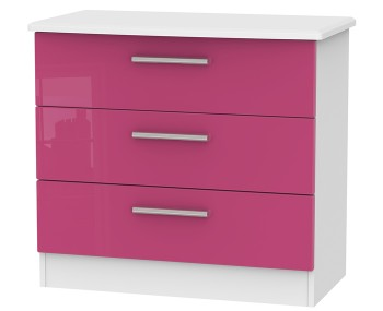 Kati Pink Girls 3 Drawer Chest