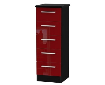 Danni Red Teens 5 Drawer Tallboy