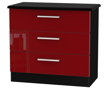 Danni Red Teens 3 Drawer Chest