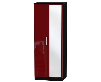Danni Red Teens 2 Door Mirror Wardrobe