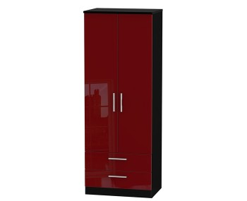 Danni Red Teens 2 Door 2 Drawer Wardrobe