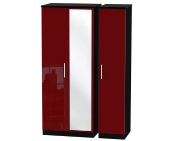Danni Red Teens Triple Mirror Wardrobe