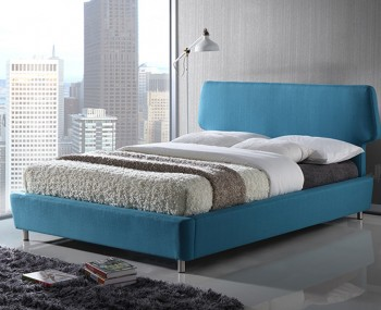 Stella Blue Upholstered Bed