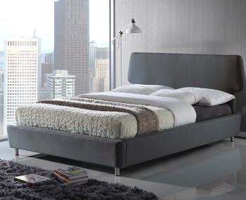 Stella Grey Upholstered Bed