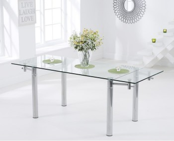 Grenada Glass Extending Dining Table