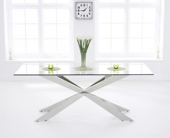 Jazz 160cm Clear Glass Dining Table