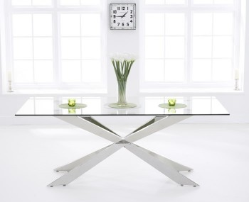 Jazz 200cm Clear Glass Dining Table