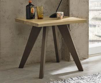 Cadell Aged & Weathered Oak Lamp Table