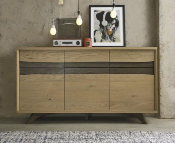 Cadell Aged & Weathered Oak Wide Sideboard