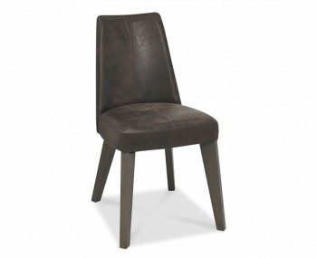 Cadell Oak And Brown Leather Upholstered Dining Chair