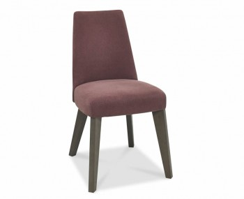 Cadell Weathered Oak And Mulberrry Upholstered Dining Chair