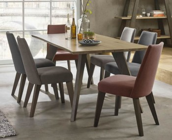 Cadell Aged & Weathered Oak Dining Table and Chairs