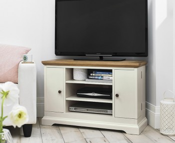 Provence Two-Tone Corner TV Unit