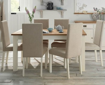 Provence Two Tone Large Extending Dining Set