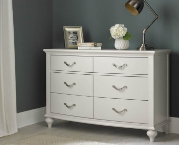 Montreux Soft Grey 6 Drawer Chest