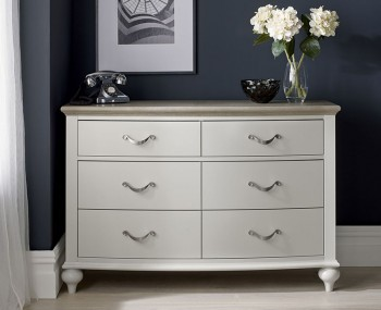 Montreux Grey Two-Tone 6 Drawer Chest
