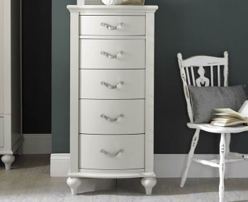 Montreux Soft Grey 5 Drawer Tall Chest